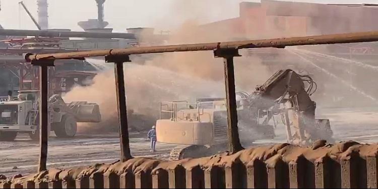 Slag Dust Suppression System